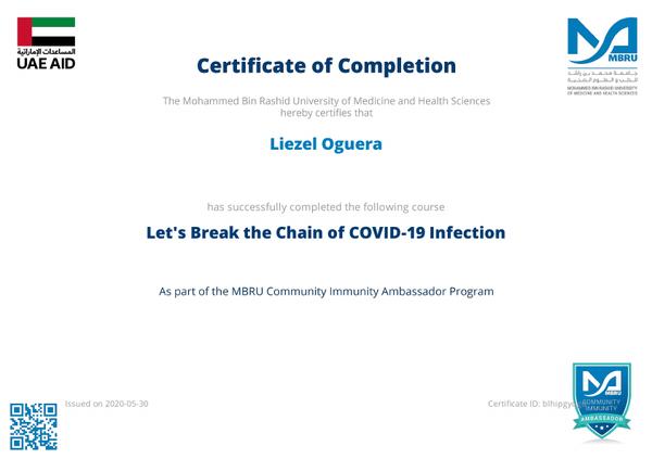 COVID-19 Immunity Ambassadors
